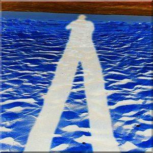 Beach Man blau 20x20