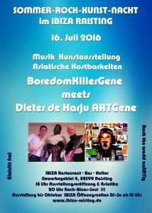 Flyer Sommer-Rock-Kunst-Nacht im Ibiza 16.7.16